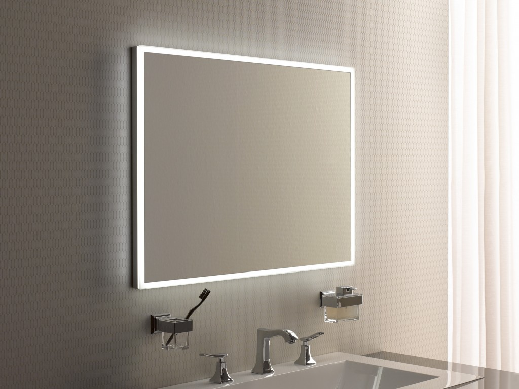 Led lighted mirrors bathrooms